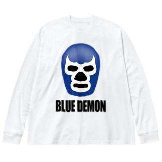BLUE DEMON / ブルーデモン Big silhouette long sleeve T-shirts