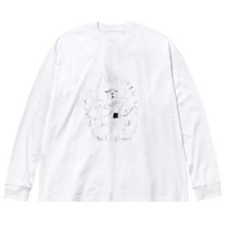 最後のおにぎり Big silhouette long sleeve T-shirts