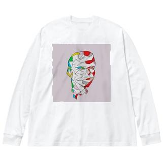 二面性ロンT Big silhouette long sleeve T-shirts