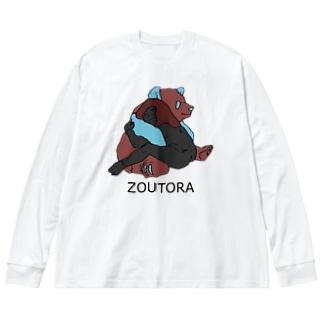 アタシとパンダ Big silhouette long sleeve T-shirts