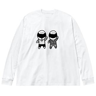 えいりお日記オリジナル(モノクロ) Big silhouette long sleeve T-shirts