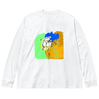 aya-kao Big silhouette long sleeve T-shirts