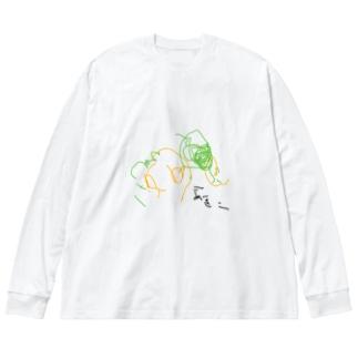 aki-himawari Big silhouette long sleeve T-shirts