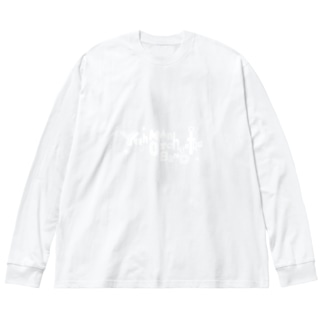 やーまんおーけすとらばんど Big silhouette long sleeve T-shirts