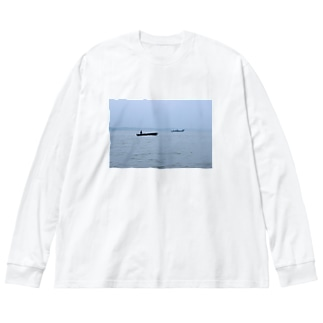 ボート ティ Big silhouette long sleeve T-shirts