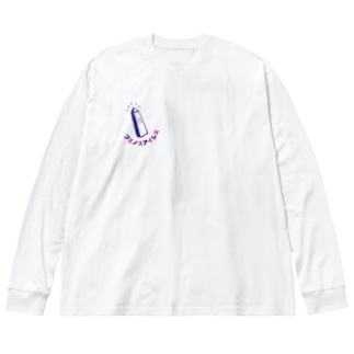 オベリスコくん  Big silhouette long sleeve T-shirts