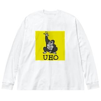 UHOゴリ モビリティ(イエロー) Big silhouette long sleeve T-shirts