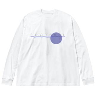 FOOTBALL Big silhouette long sleeve T-shirts