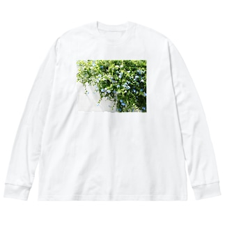 ルリマツリ Big silhouette long sleeve T-shirts