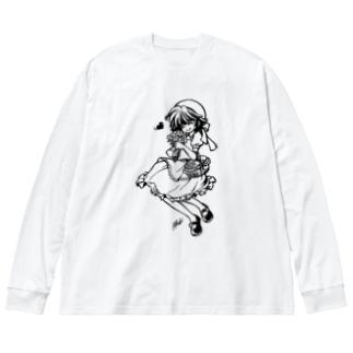 よりみち Big silhouette long sleeve T-shirts