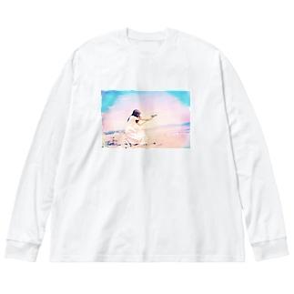 その地平線に銃弾を Big silhouette long sleeve T-shirts