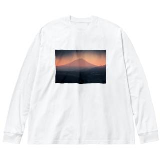 アカフジ Big silhouette long sleeve T-shirts