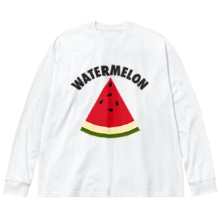 WATERMELON 扇形 Big silhouette long sleeve T-shirts