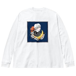 konロンT(hatsune) Big silhouette long sleeve T-shirts