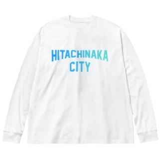 ひたちなか市 HITACHINAKA CITY Big silhouette long sleeve T-shirts