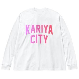 刈谷市 KARIYA CITY Big silhouette long sleeve T-shirts
