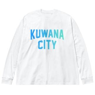 桑名市 KUWANA CITY Big silhouette long sleeve T-shirts