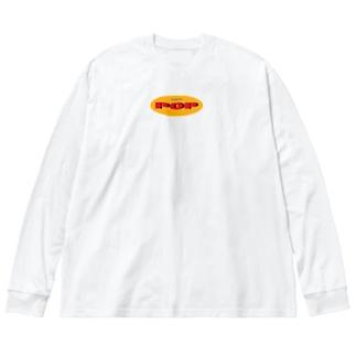 SIMPLE POP ロゴ Big silhouette long sleeve T-shirts