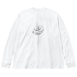 川合農園3 Big silhouette long sleeve T-shirts