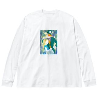 アリスとハッター Big silhouette long sleeve T-shirts