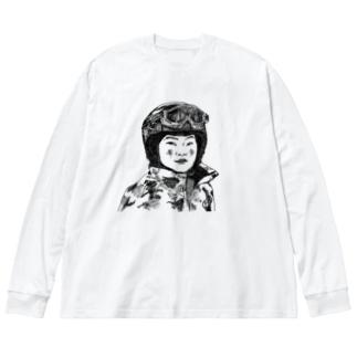 gorozomachine_storeのスキーに行きました。 Big Long Sleeve T-shirt