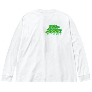 ALL GREEN??? Big silhouette long sleeve T-shirts