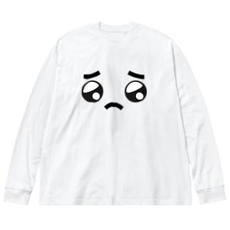 ぴぴぴえん Big silhouette long sleeve T-shirts