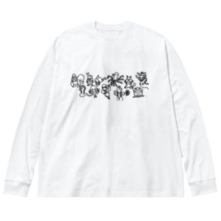ラクガキファーム Big silhouette long sleeve T-shirts