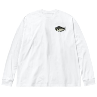トサカハギ Big silhouette long sleeve T-shirts