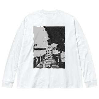 "Salida del sol""世界を股に掛けよ"" Big silhouette long sleeve T-shirts"