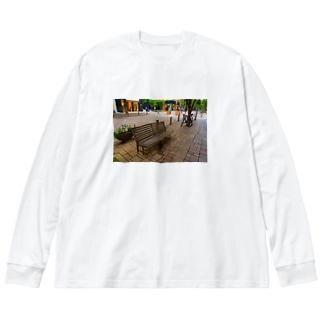 丸の内ベンチTシャツ Big silhouette long sleeve T-shirts