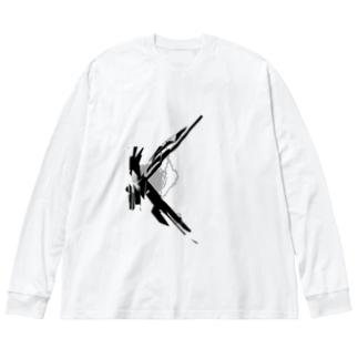 K Big silhouette long sleeve T-shirts