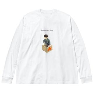 段ボール男子 Big silhouette long sleeve T-shirts