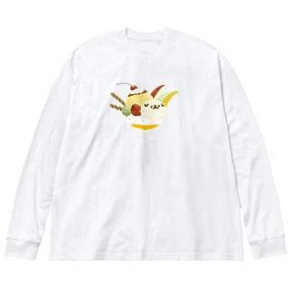 しいくいんのSUNDAYつら犬サンデー Big Silhouette Long Sleeve T-Shirt