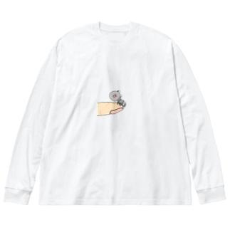 手のり蟻さん。 Big silhouette long sleeve T-shirts