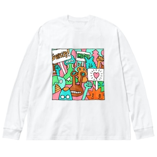毎日イラストセレクション No.002 Big silhouette long sleeve T-shirts