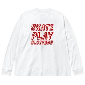 SKATE PLAY R Big silhouette long sleeve T-shirts