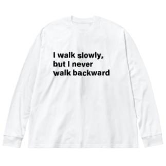 I work srory Big silhouette long sleeve T-shirts