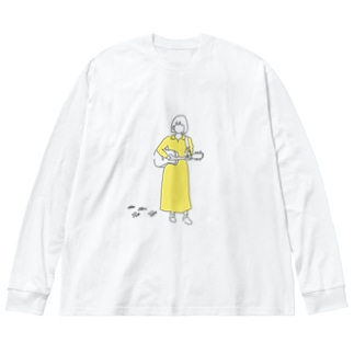 ほのかすまいる2020 Big silhouette long sleeve T-shirts