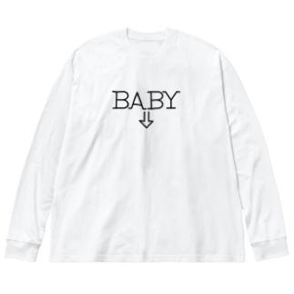 エイドリアンのマタニティウェア Big silhouette long sleeve T-shirts