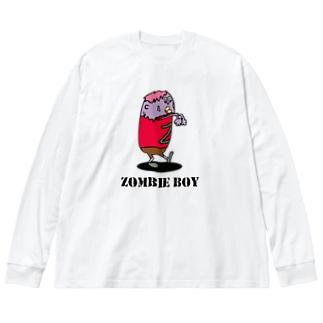 ゾンビ少年 Big silhouette long sleeve T-shirts