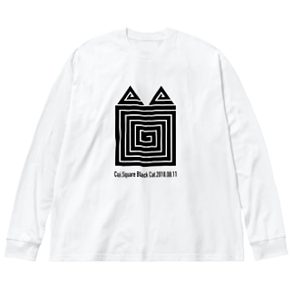 Cuiのじっと見てると… Big silhouette long sleeve T-shirts