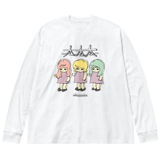 太太太 Big silhouette long sleeve T-shirts