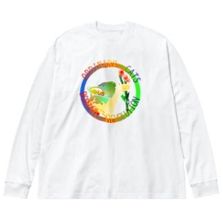 ORDINARY CATS6(夏) Big Silhouette Long Sleeve T-Shirt