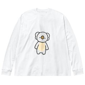 こあら Big silhouette long sleeve T-shirts
