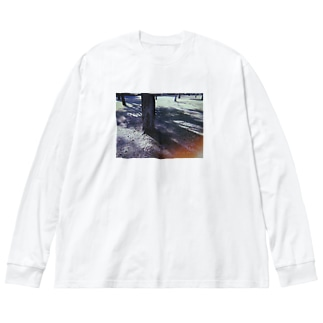 forest 🌳 Big silhouette long sleeve T-shirts