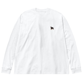 いぬ Big silhouette long sleeve T-shirts