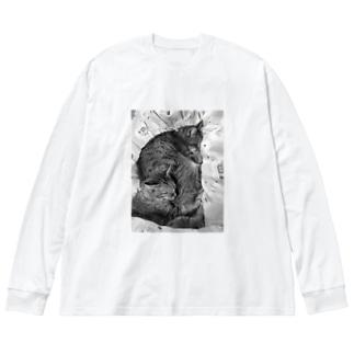サンチコプリン Big silhouette long sleeve T-shirts