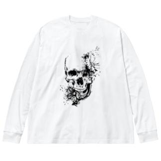 memento mori Big silhouette long sleeve T-shirts