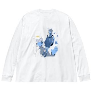 Illust 2021 soyatu Big silhouette long sleeve T-shirts